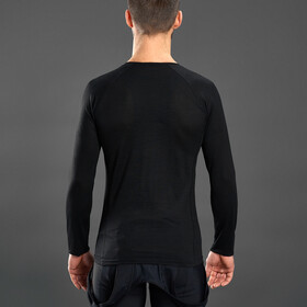GripGrab Couche de base à manches longues en polyfibre mérinos, black